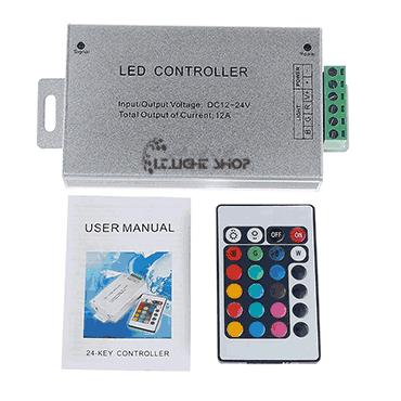 controler rgb 12V 12A 24key IRON - کنترلر RGB دوازده ولت