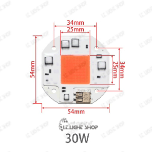 LED رشدگیاه 220 ولت مربع 30 وات
